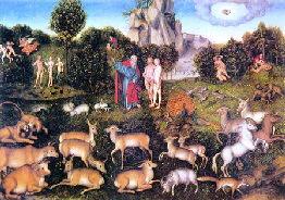 Adam si Eva in Paradis