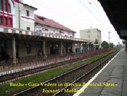 Buzau - Gara. Vedere in directia R. Sarat - Focsani  hp 1