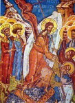Coborârea la Iad - Mănăstirea Moldoviţa - Frescă din 1537
