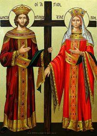 Sfinţii Împăraţi Constantin şi mama sa Elena