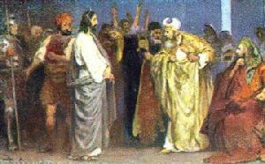 Iisus în fata arhiereului Caiafa hp 1