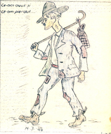 Popa D - Vagabond prin Europa - Caricatura hp 1