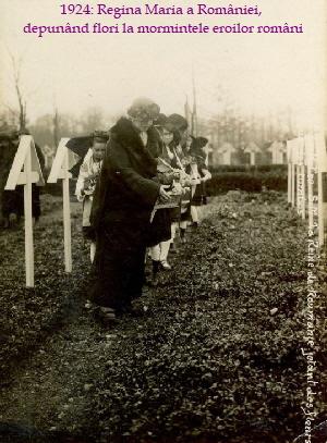 Soultzmatt 1924 Regina Maria la mormantul soldatillor romani hp 11