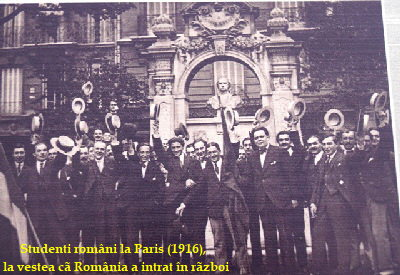 Sstudenti romani la Paris 1916 a